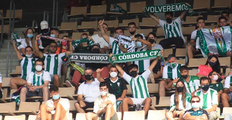 Los seguidores cordobesistas el domingo en Jerez