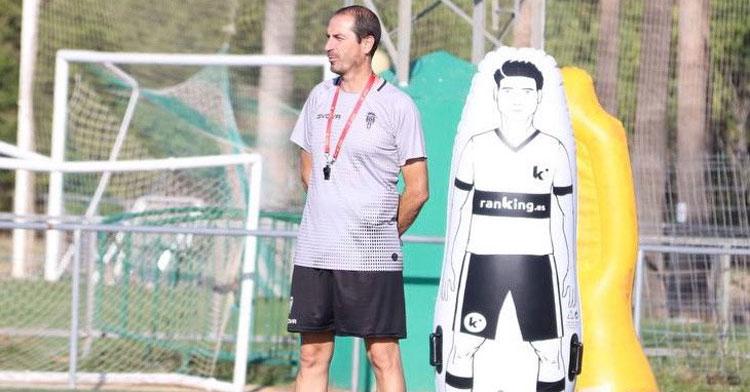 Diego Caro en el último entrenamiento de la semana. Foto: CCF