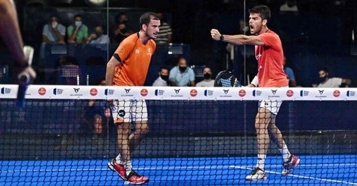 La euforia de la victoria de Javi Garrido junto a su compañero Juan Belluati.