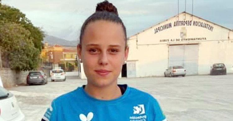 Lucía López, jugadora del Priego Mujer y Progreso