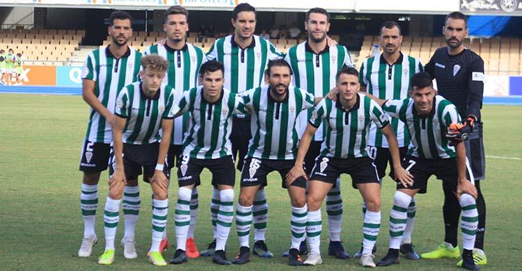 El primer once del Córdoba CF en la Segunda RFEF.