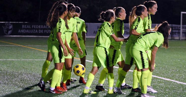 Las jugadoras de Ariel Montenegro celebrando un tanto. Foto: CD Pozoalbense