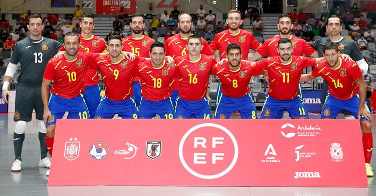 La selección española, a por todas a Lituania. Foto: RFEF