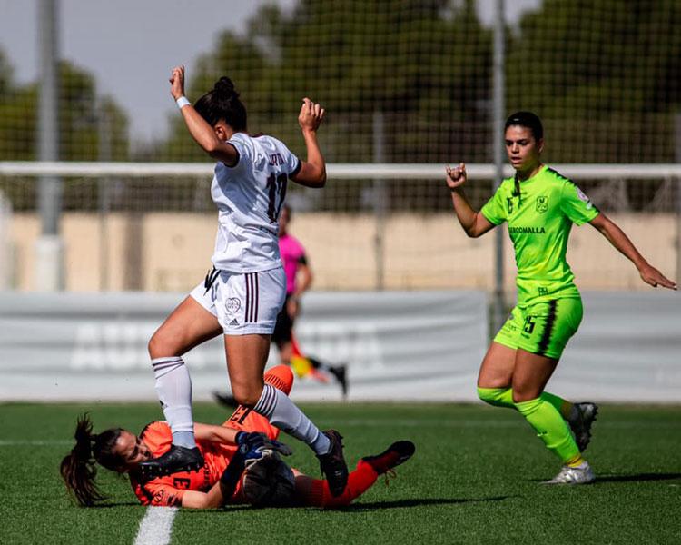 El Pozoalbense durante su partido en tierras manchegas. Foto: CD Alba Fundación