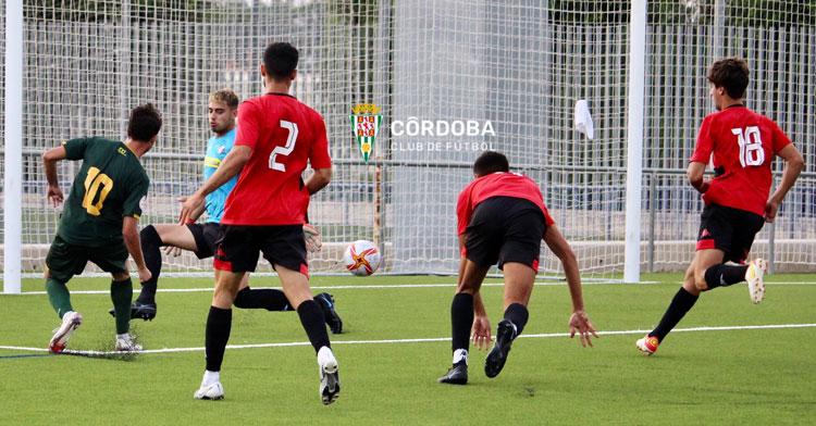 El Córdoba B fue ganando durante buena parte del partido ante el Gerena, pero le faltó rematar. Foto: CCF