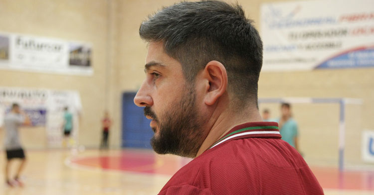 Josan González esta tarde en Manzanares. Foto: Córdoba Futsal