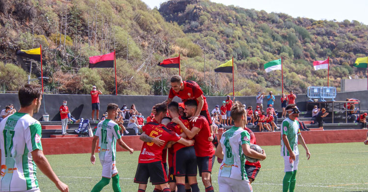 El Barranco de Los Dolores de Santa Cruz de La Palma abriga al Silvestre Carrillo del CD Mensajero, campo aciago para el Córdoba. Foto: CD Mensajero