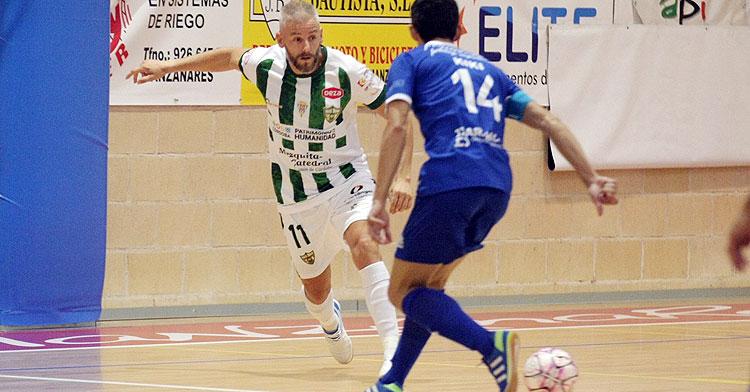 Miguelín en un partido de esta pretemporada pasada. Foto: Córdoba Futsal