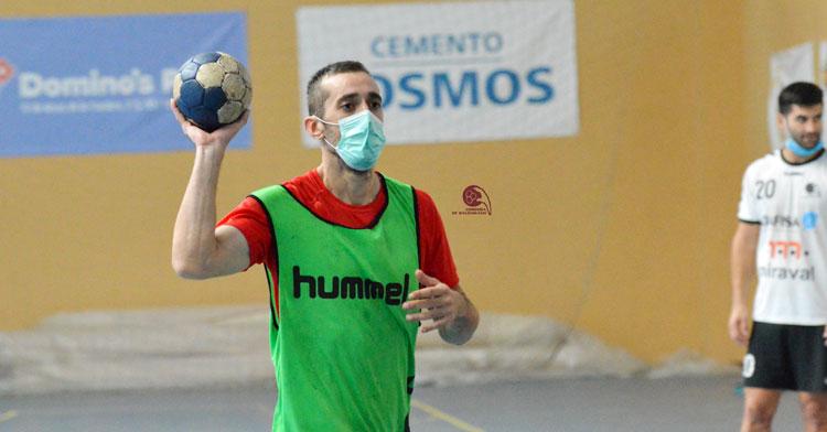 Alberto Requena durante un entrenamiento preparatorio. Foto: CBM